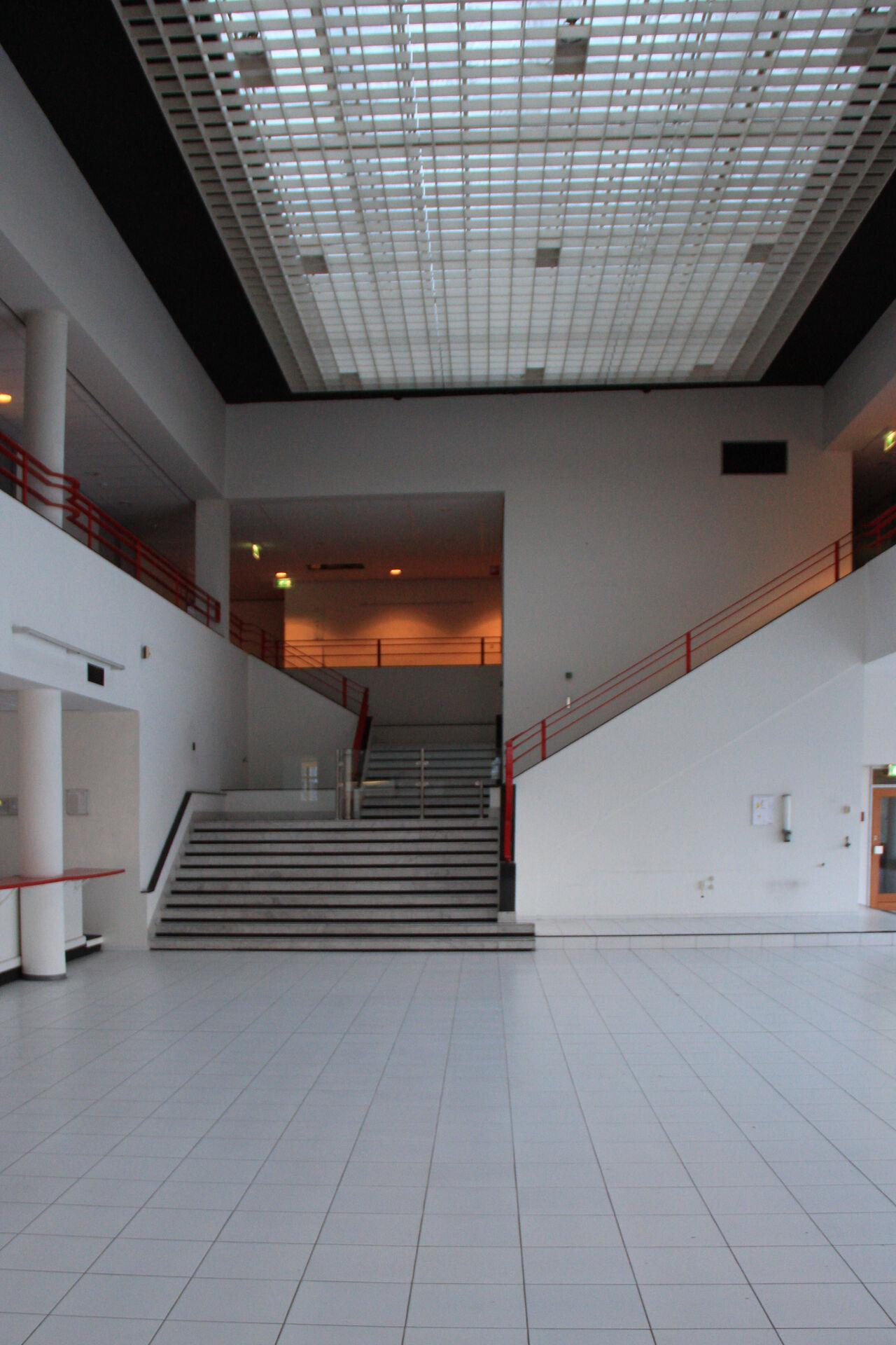 Before and after atrium interior