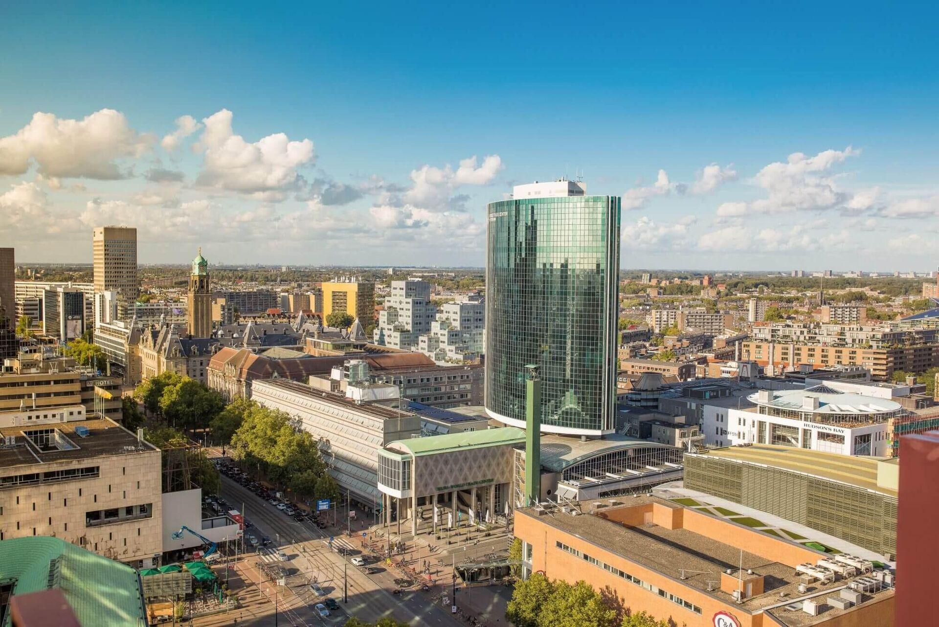 Gevelrenovatie van WTC Rotterdam is gestart